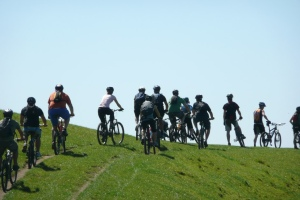 Group ride at Summerhill, Tauranga