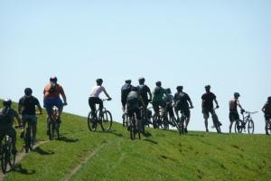 Group ride at Summerhill, Tauranga