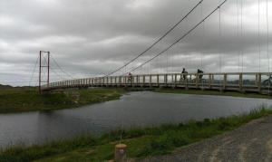 Opotiki suspension bridge marks the start of the Dunes Track
