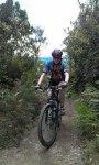 Aidan, back in the saddle on Rainbow Mountain