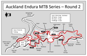 Hunua Map 2013 Auckland Endura MTB Champs