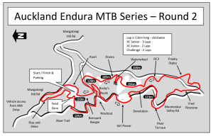 Hunua Map 2013 Auckland Endura MTB Champs