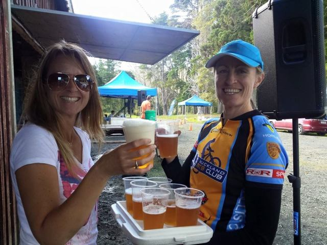 The Beer Ladies at the Riverhead Enduro 2015