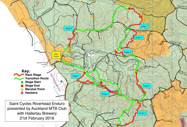 Saint Cycles Riverhead Enduro 2016 Course Map