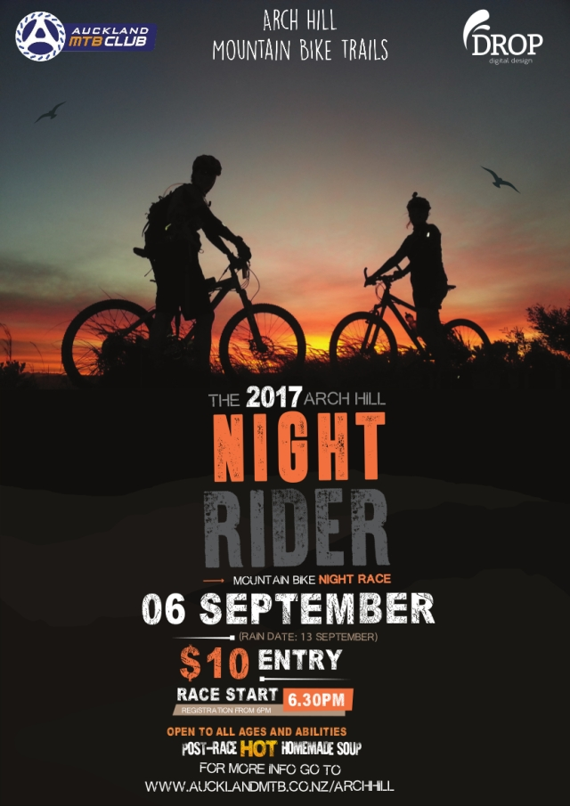 2017 Arch Hill Night Race Poster