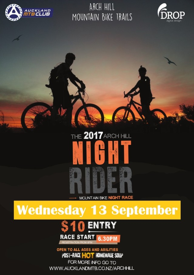 2017 Arch Hill Night Race Poster postponed